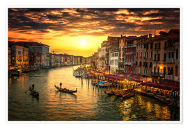 Premium poster  Grand Canal at sunset