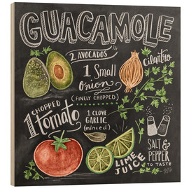 Wood print  Guacamole - Lily & Val