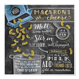 Premium poster  Macaroni and Cheese recipe - Lily & Val