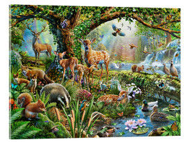 Acrylic print  Woodland creatures - Adrian Chesterman