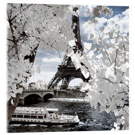 Acrylic print  Infrared Shipping in Paris - Philippe HUGONNARD