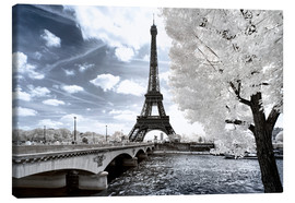 Canvas print  Infrared Eiffel Tower and Seine - Philippe HUGONNARD