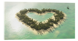 Acrylic print  The heart island - Peter Weishaupt