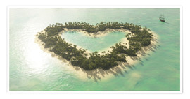 Premium poster  The heart island - Peter Weishaupt