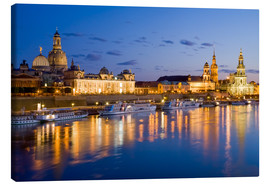 Canvas print  Dresden at night - Dieterich Fotografie