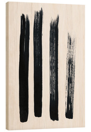 Wood print  Abstract brush strokes