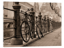 Acrylic print  Bicycles on a promenade