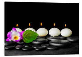 Acrylic print  spa still life with candles