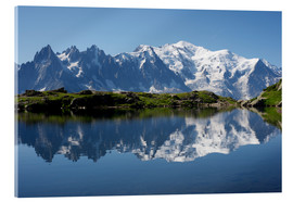 Acrylic print  Lake at Mont Blanc