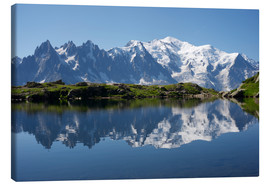 Canvas print  Lake at Mont Blanc