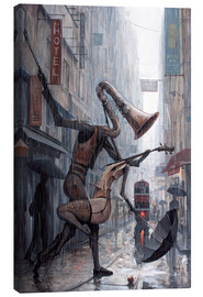 Canvas print  Life is a dance in the rain - Adrian Borda