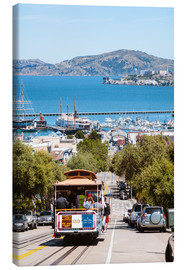 Canvas print  Tram with Alcatraz island in the background, San Francisco, USA - Matteo Colombo