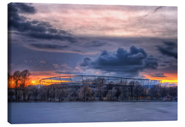 Canvas print  Clouds above the HDI Arena - Holger Bücker (BuPix)