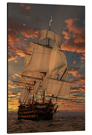 Aluminium print  The HMS victory - Peter Weishaupt