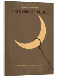 Wood print  Its a Wonderful Life - chungkong