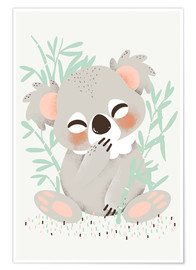 Premium poster  Animal friends - the koala - Kanzilue