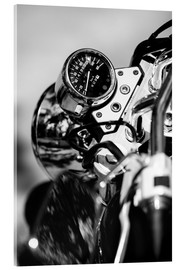Acrylic print  Speedometer of a motorcycle