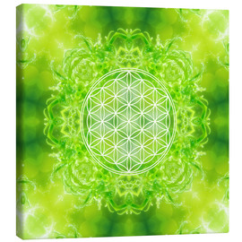 Canvas print  Flower of Life - Healing Power of Nature - Dolphins DreamDesign