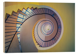 Wood print  Staircase in crayon - MUXPIX