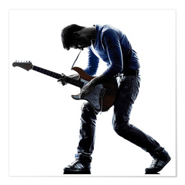 Premium poster  Musician with an electric guitar