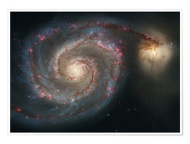 Premium poster Spiral nebulae - beauty of the universe