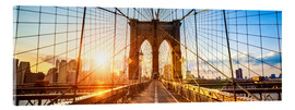 Acrylic print  Brooklyn Bridge in New York City, USA - Jan Christopher Becke