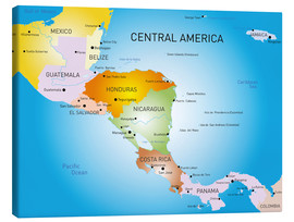 Canvas print  Central America - Map