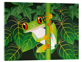 Acrylic print  Hold on tight little frog! - Kidz Collection