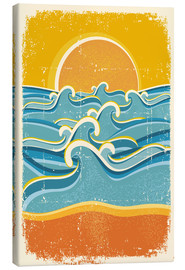 Canvas print  Sea waves and yellow sand beach - Kidz Collection