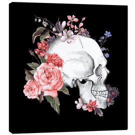 Canvas print  Floral skull