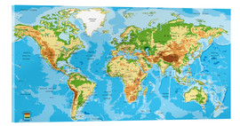 Acrylic print  Map of the world