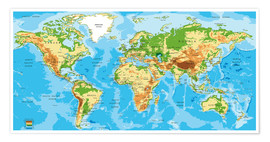 Premium poster  Map of the world