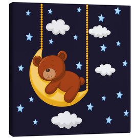 Canvas print  Goodnight Teddy - Kidz Collection