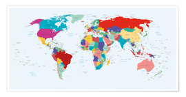 Premium poster  World Map, 2003 - Kidz Collection
