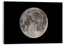 Wood print  Super Moon November 2016 - MonarchC