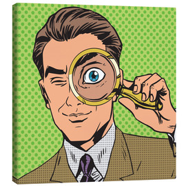 Canvas print  Detective with magnifying glass