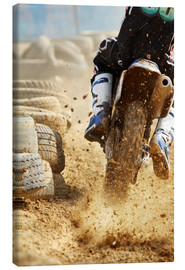 Canvas print  Motocross bike racing