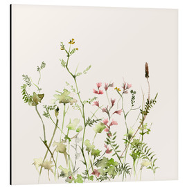 Aluminium print  Wild flower meadow - Dearpumpernickel