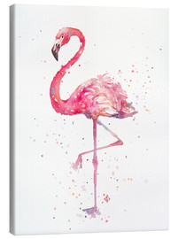Canvas print  A Flamingos Fancy - Sillier Than Sally