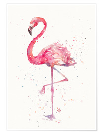Premium poster A Flamingos Fancy