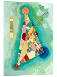 Acrylic print  Stained in triangle - Wassily Kandinsky