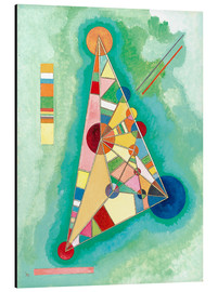 Aluminium print  Stained in triangle - Wassily Kandinsky