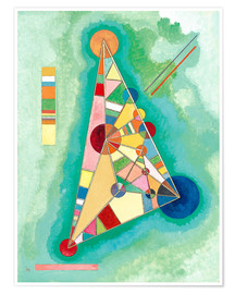 Premium poster  Stained in triangle - Wassily Kandinsky
