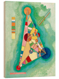 Wood print  Stained in triangle - Wassily Kandinsky
