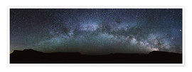 Premium poster Panoramic of the Milky Way arch, United States