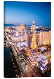 Canvas print  Eiffel tower on the Strip at night, Las vegas, Nevada, USA - Matteo Colombo