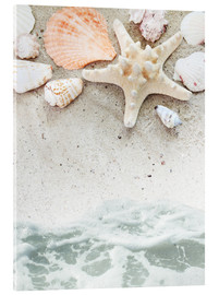 Acrylic print  Sea Beach with Starfish