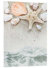 Foam board print  Sea Beach with Starfish