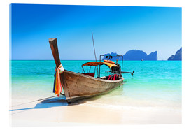 Acrylic print  Long boat in Thailand