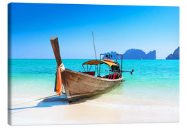 Canvas print  Longboat in Thailand